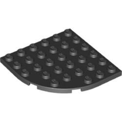 Black Plate, Round Corner 6 x 6