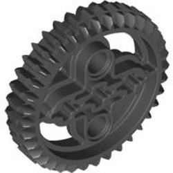Black Technic, Gear 36 Tooth Double Bevel - new