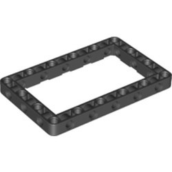 Black Technic, Liftarm, Modified Frame Thick 7 x 11 Open Center