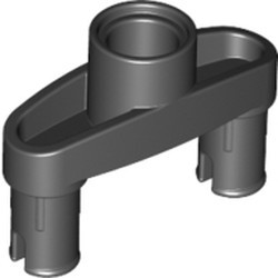 Black Technic, Pin Connector 3L with 2 Pins and Center Hole