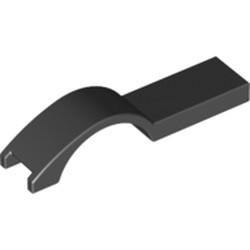 Black Vehicle, Mudguard 1 x 4 1/2 - used