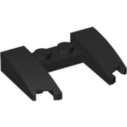 Black Wedge 3 x 4 x 2/3 Cutout - new