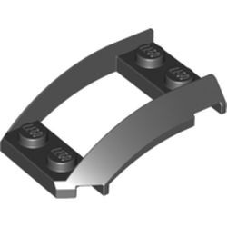 Black Wedge 4 x 3 Open with Cutout and 4 Studs