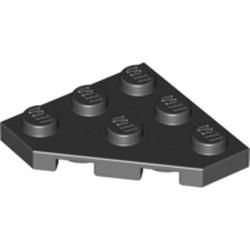 Black Wedge, Plate 3 x 3 Cut Corner - new