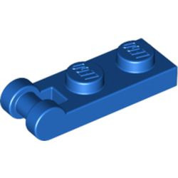 Blue Plate, Modified 1 x 2 with Bar Handle on End - Closed Ends