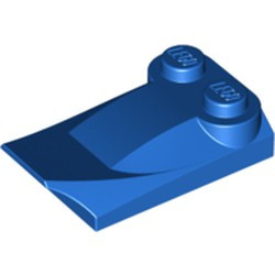 Blue Slope, Curved 3 x 2 x 2/3 with Two Studs, Wing End