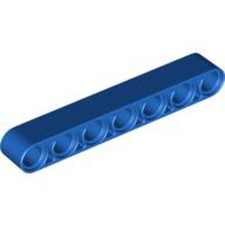Blue Technic, Liftarm 1 x 7 Thick - new