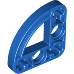 Blue Technic, Liftarm 3 x 3 L-Shape with Quarter Ellipse Thin - new