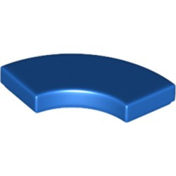 Blue Tile, Round Corner 2 x 2 Macaroni