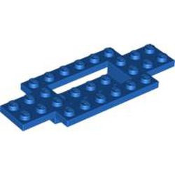 Blue Vehicle, Base 4 x 10 x 2/3 with 4 x 2 Recessed Center with Smooth Underside