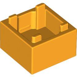 Bright Light Orange Container, Box 2 x 2 x 1 - Top Opening