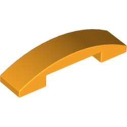Bright Light Orange Slope, Curved 4 x 1 Double - new