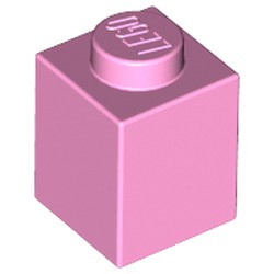 Bright Pink Brick 1 x 1 - used