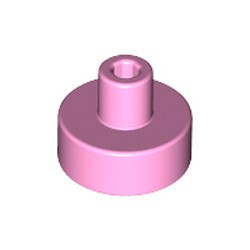 Bright Pink Tile, Round 1 x 1 with Bar and Pin Holder - new