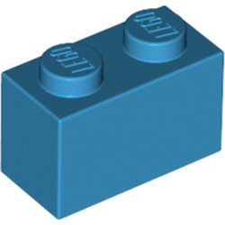 Dark Azure Brick 1 x 2 - new
