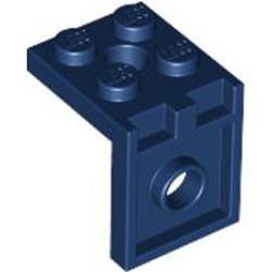 Dark Blue Bracket 2 x 2 - 2 x 2 with 2 Holes