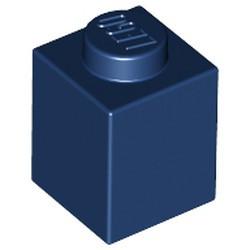 Dark Blue Brick 1 x 1