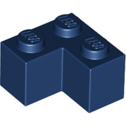 Dark Blue Brick 2 x 2 Corner - new