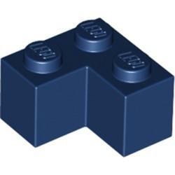 Dark Blue Brick 2 x 2 Corner