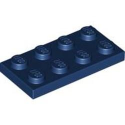 Dark Blue Plate 2 x 4 - new