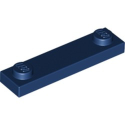 Dark Blue Plate, Modified 1 x 4 with 2 Studs without Groove - used
