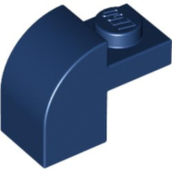 Dark Blue Slope, Curved 2 x 1 x 1 1/3 with Recessed Stud - new