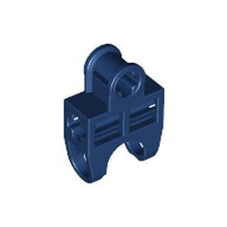 Dark Blue Technic, Axle Connector 2 x 3 with Ball Joint Socket, Open Sides