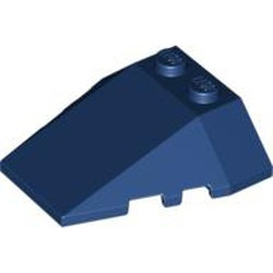 Dark Blue Wedge 4 x 4 Triple with Stud Notches