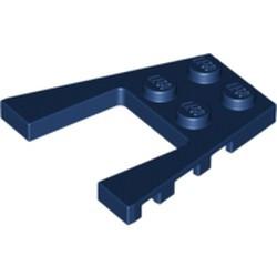 Dark Blue Wedge, Plate 4 x 4