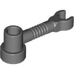Dark Bluish Gray Bar 1 x 3 with Clip and Stud Receptacle (Robot Arm)