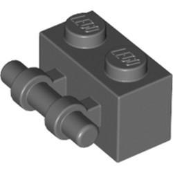 Dark Bluish Gray Brick, Modified 1 x 2 with Bar Handle