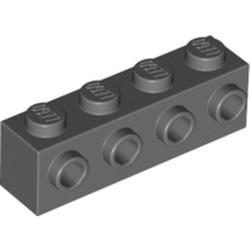 Dark Bluish Gray Brick, Modified 1 x 4 with 4 Studs on 1 Side