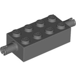 Dark Bluish Gray Brick, Modified 2 x 4 with Pins