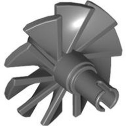 Dark Bluish Gray Engine, Large, Center, 10 Blades - new