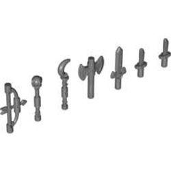Dark Bluish Gray Minifigure, Utensil Scepter with Hook End (Moon Stick) - new