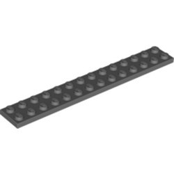 Dark Bluish Gray Plate 2 x 14