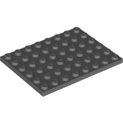 Dark Bluish Gray Plate 6 x 8
