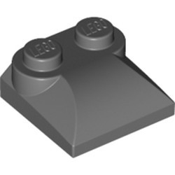 Dark Bluish Gray Slope, Curved 2 x 2 x 2/3 with Two Studs and Curved Sides