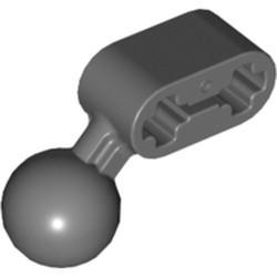 Dark Bluish Gray Technic, Liftarm, Modified Ball Joint Angled 1 x 2