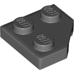 Dark Bluish Gray Wedge, Plate 2 x 2 Cut Corner