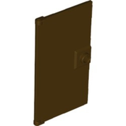 Dark Brown Door 1 x 4 x 6 with Stud Handle - new