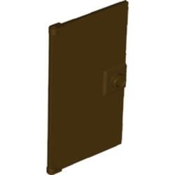 Dark Brown Door 1 x 4 x 6 with Stud Handle