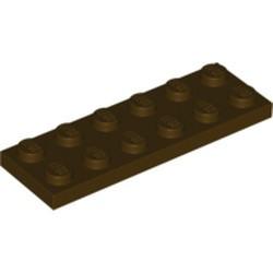 Dark Brown Plate 2 x 6 - used