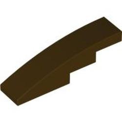 Dark Brown Slope, Curved 4 x 1 - used
