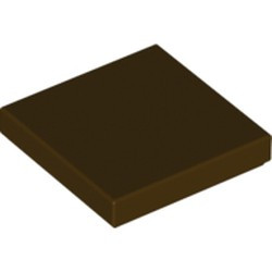 Dark Brown Tile 2 x 2 with Groove - new