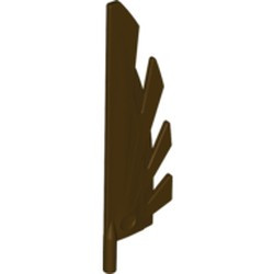 Dark Brown Wing 9L with Stylized Feathers - used
