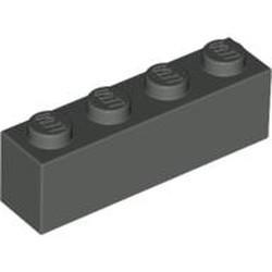 Dark Gray Brick 1 x 4 - used