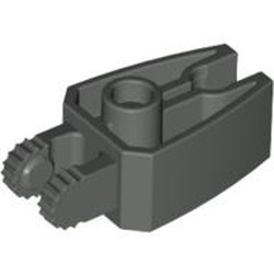 Dark Gray Hinge 1 x 3 Locking with 2 Fingers and Claw End