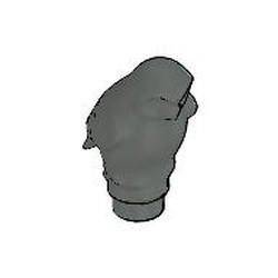 Dark Gray Owl, Rounded Features - used