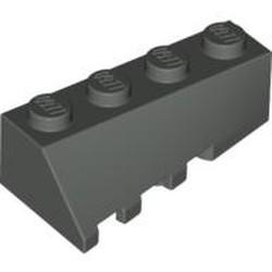 Dark Gray Wedge 4 x 2 Sloped Right - used